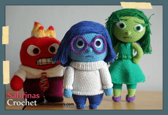 Sadness Inside Out Free Amigurumi Crochet Pattern has the ...