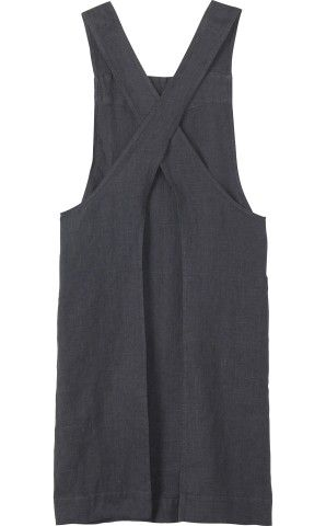 Women's Linen Cross Over Apron in New