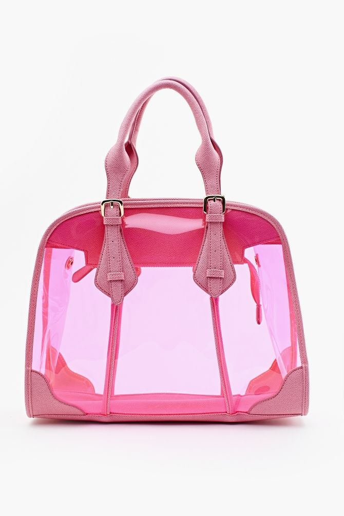 nothing better than a shiny pink tote—Sugar Tote