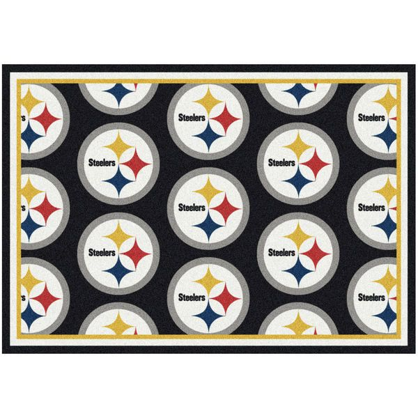 "Pittsburgh Steelers 92"" x 129"" Repeating Rug - $449.99"