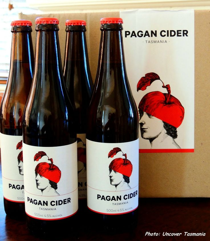 One of the many ciders brewed here in Tasmania.