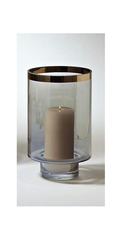 Global Views 6.60249 Twilight Hurricane Small Candle Holder Clear Home Decor Accents Candle Holders