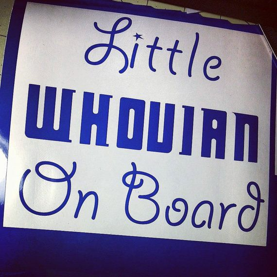 Whovian on Board Doctor Who Car Decal Sticker by TurboNerd, $5.00