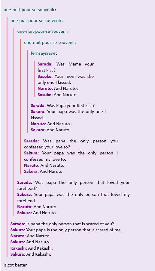 <3 Naruto, Sasuke, Sakura, Kakashi & Sareda