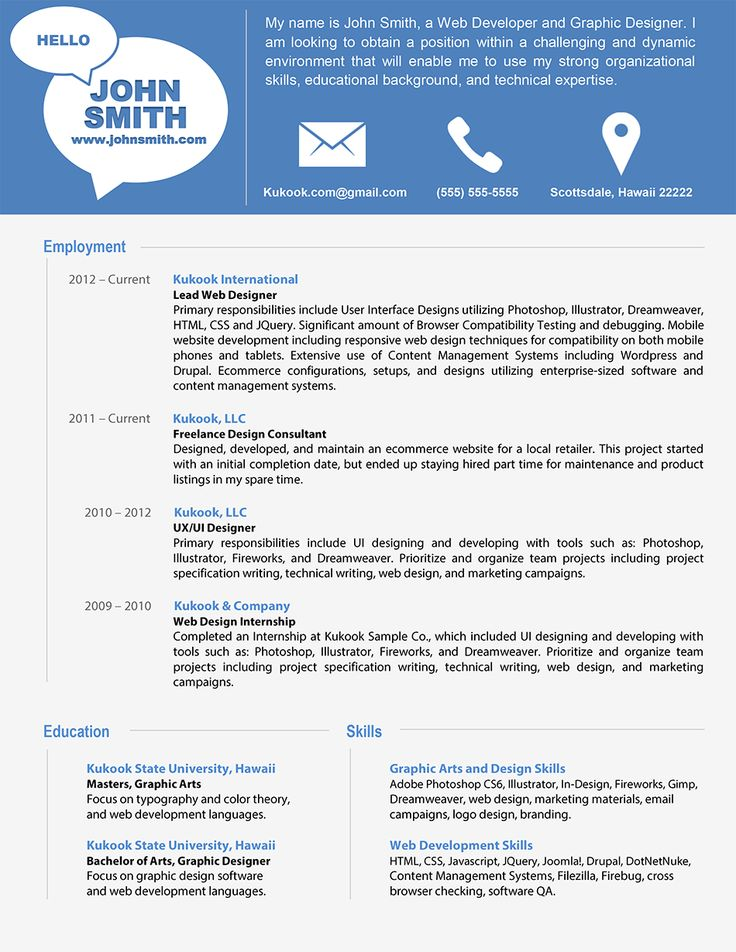 sample of modern resumes
