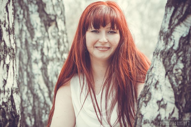 Red-haired woman in a birch forest by Vyacheslav  Kolomeets on 500px