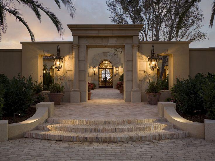 Mediterranean Style Entry Courtyard Homes Mediterranean