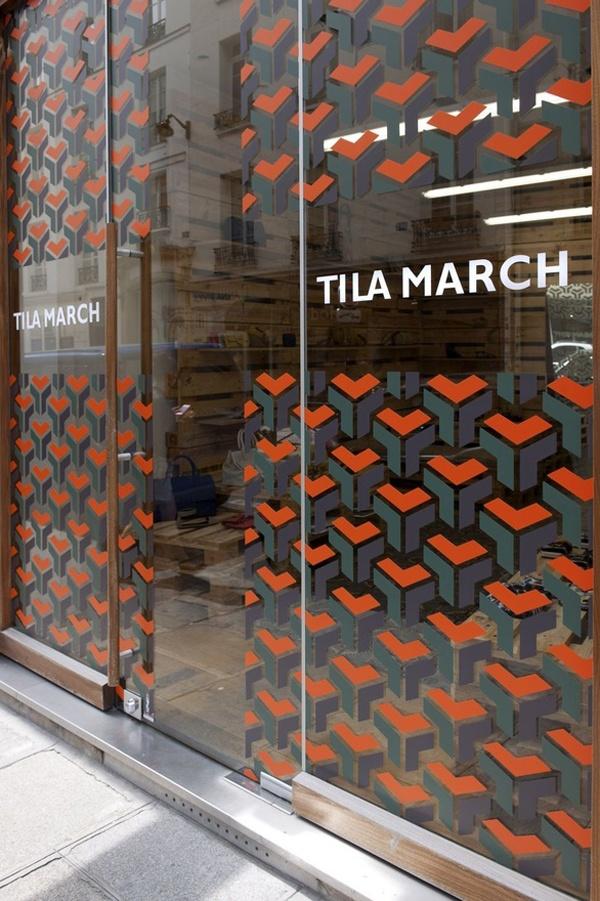 Tila March X David Hicks Pop up Shop Storefront Window Decal Patterns
