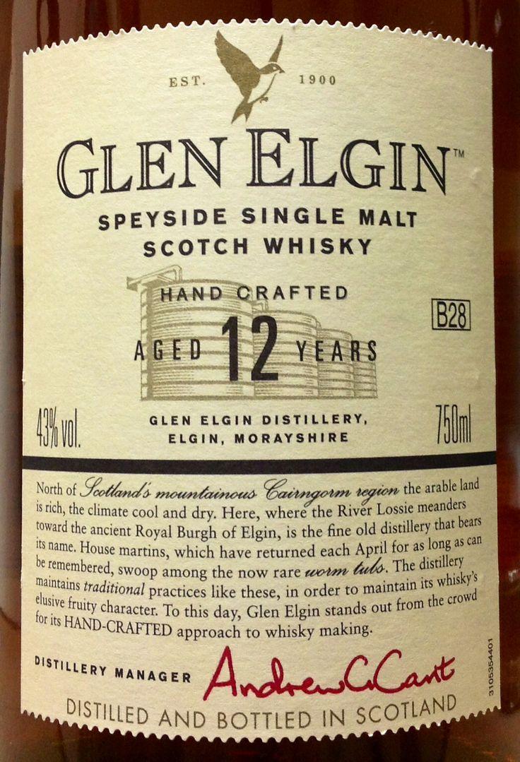 best ideas about glen elgin scotch whiskey and glen elgin 12yo 43%