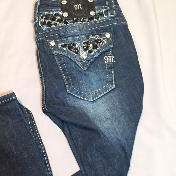Miss Me black sequin jean Like new (worn once) Miss Me jeans. Miss Me Pants Wide Leg