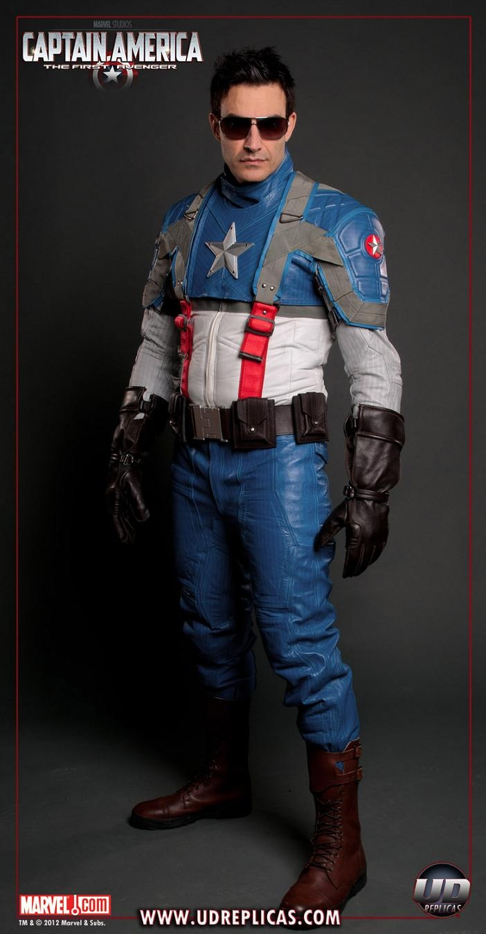 Captain America Leather Motorcycle Gear Just Needs The Helmet