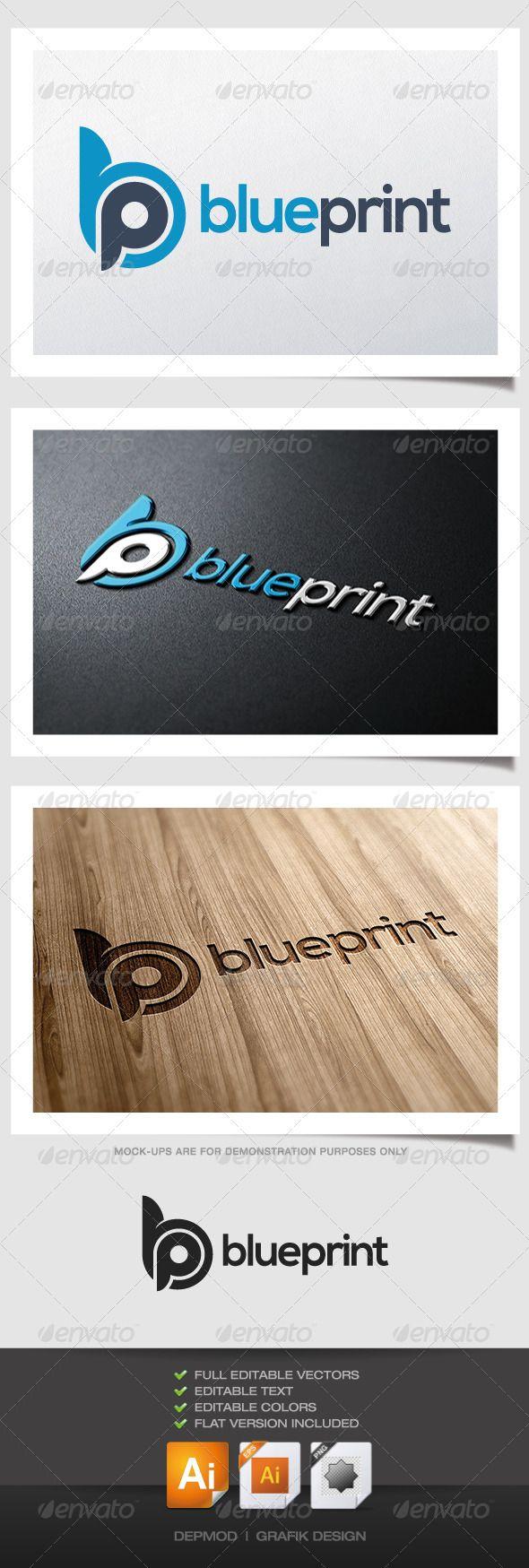 Blue Print Logo (Letters)