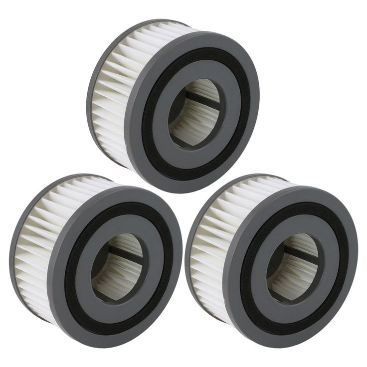 3 Pack Felji F15 Washable HEPA Filters for Dirt Devil Vacuum Cleaners Part # 1-SS0150-000 3-SS0150-001