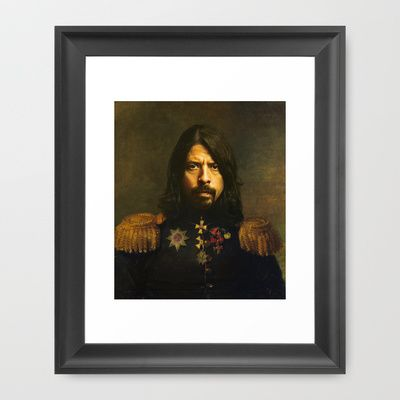 Dave+Grohl+-+replaceface+Framed+Art+Print+by+Replaceface+-+$42.00