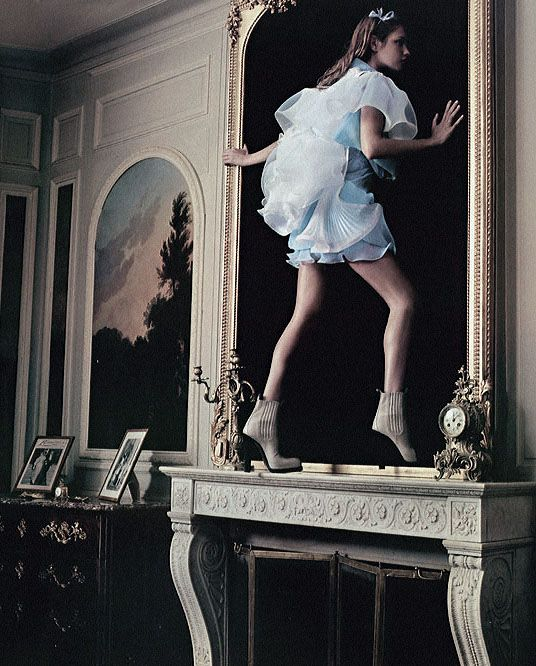 Natalia Vodianova in 'Alice in Wonderland' photographed by Annie Leibovitz for Vogue US