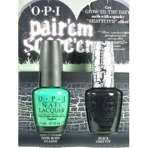 opi halloween 2011 pair'em scare'em **black shatter AND zoom-body to love(glows in the dark)** (Health and Beauty) http://www.amazon.com/dp/B005DHCLF2/?tag=wwwmoynulinfo-20 B005DHCLF2