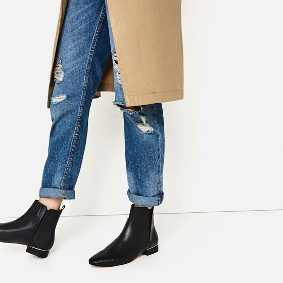 Image 1 of FLAT STRETCH ANKLE BOOTS from Zara