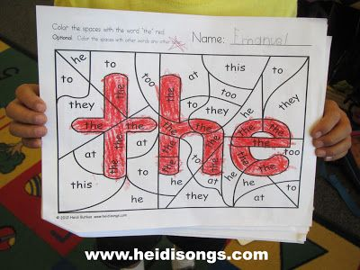 (Professor Grade this # 4) Sight word coloring, this is a great idea. Website links you to another website where you can download a sample or buy a set of sight words.  This is a creative and inventive way to help children read and recognize sight words. The website also has some other fun and creative ideas.