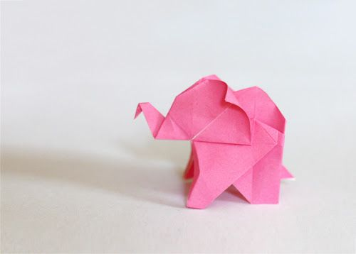 Fold an origami elephant | How About Orange