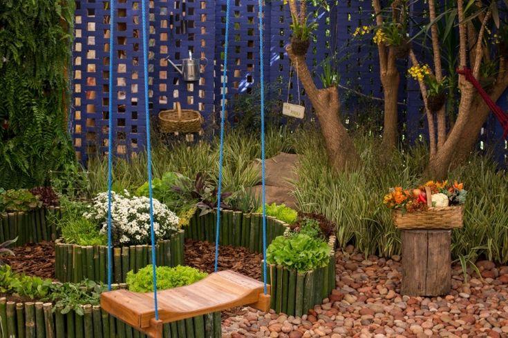 Ideias De Hortas ~ 10 ideias para montar e decorar seu jardim e sua horta Paisagismo, Jardinagem e Pomar