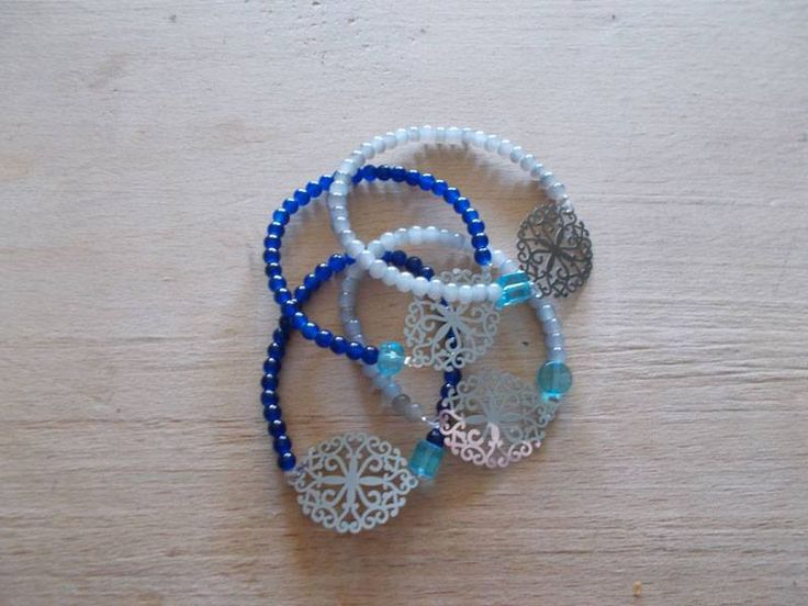 blue & grey beads