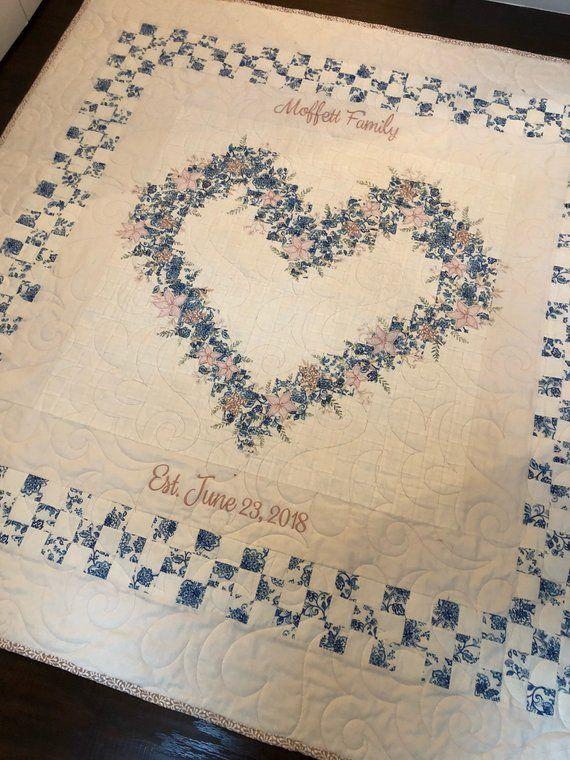 Family Heart Quilt Heart Quilt Pattern Quilts Quilt Guest Books