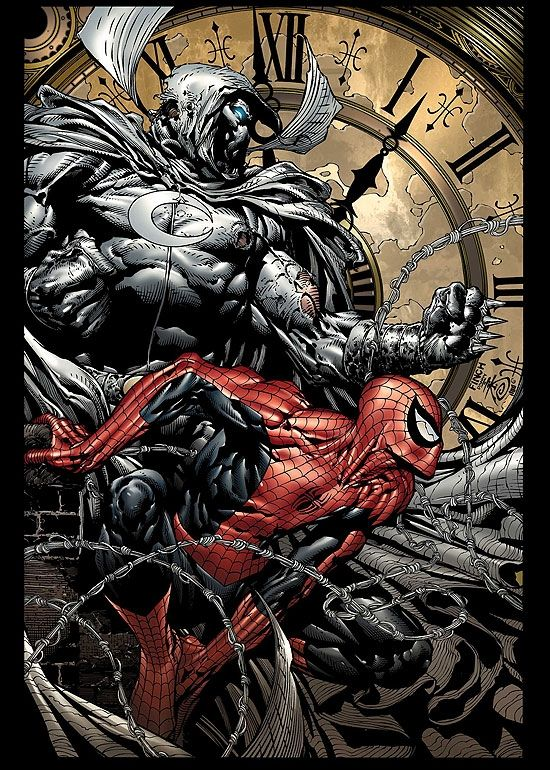 #Spider-Man (Peter Parker) and Moon #Knight (Marc Spector)