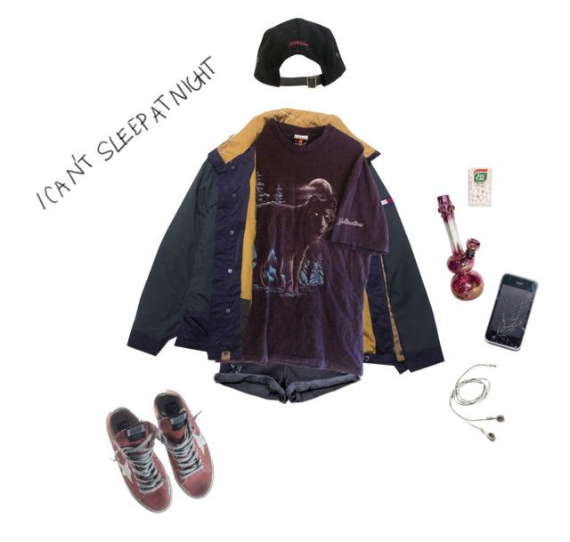 """undeclared"" by starg1rl ❤ liked on Polyvore featuring Stussy and Golden Goose"