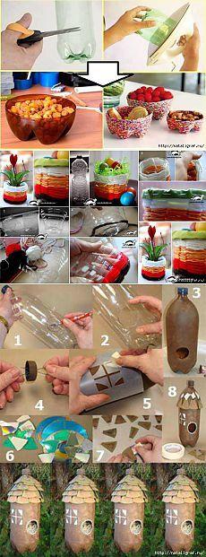 Пластиковые бутылки: новые поделки.