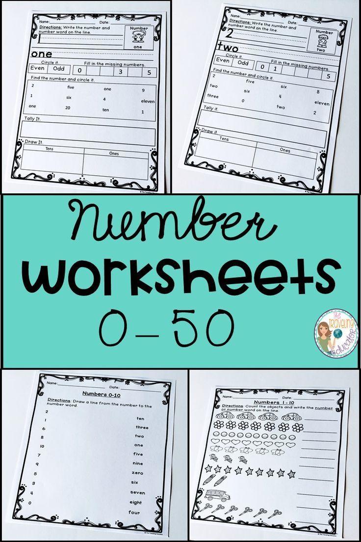 Number Worksheets 0-50 | Pinterest | Number worksheets, Printable ...