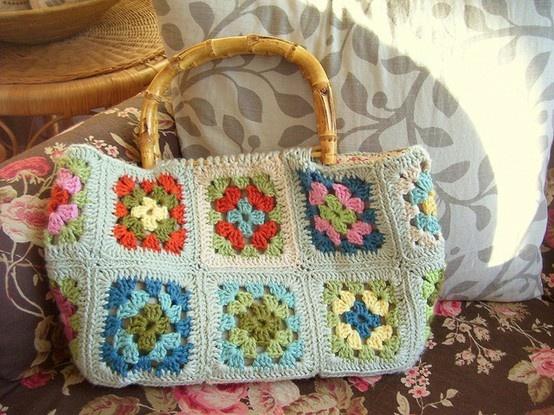 Granny Crochet Bag : Crochet Granny Squares