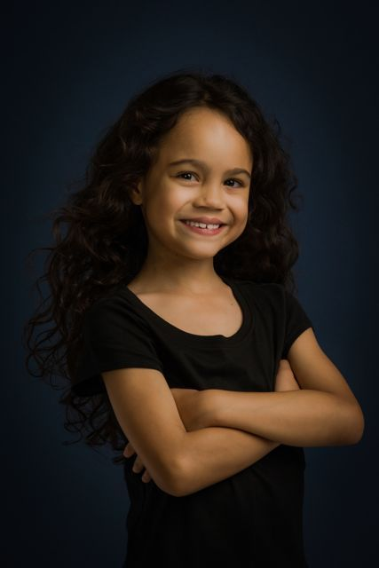 SMALL BUT PROMISING: Chloe De Los Santos will be portraying Young Cosette in Les Miserables Asia