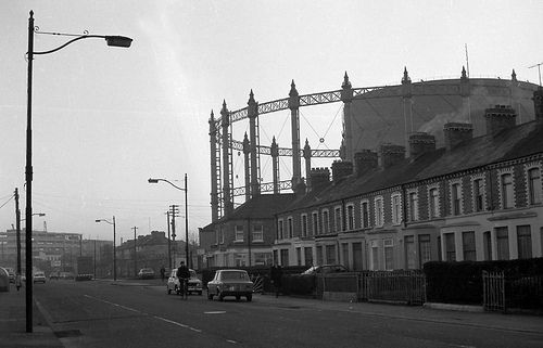 Vanishing Dublin. The Gasworks,  Ringsend (1980s). http://dublincitypubliclibraries.com/image-galleries/digital-collections
