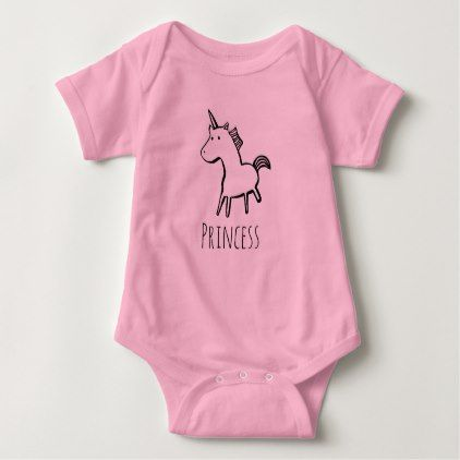 Unicorn Princess Baby Suit Pink Black Baby Bodysuit - baby gifts child new born gift idea diy cyo special unique design