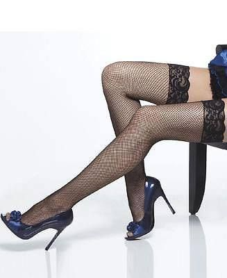 $14.95  Lace Top Fishnet Thigh High Tights