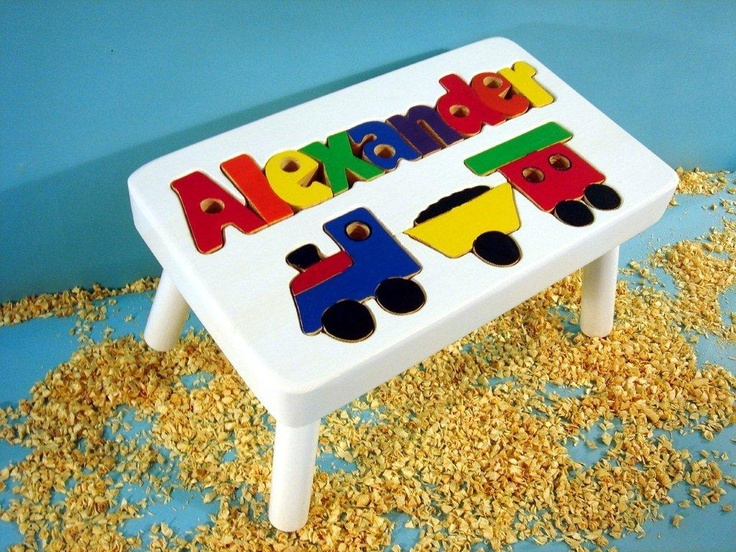 35 best puzzle step stools images on pinterest banquettes step for a gift little boys will love youre on the right track with this personalized train puzzle step stool negle Image collections