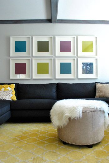 So doing this.. cheap and good looking! Ikea and Michael's here we come! Needed some above the couch art anyhow.
