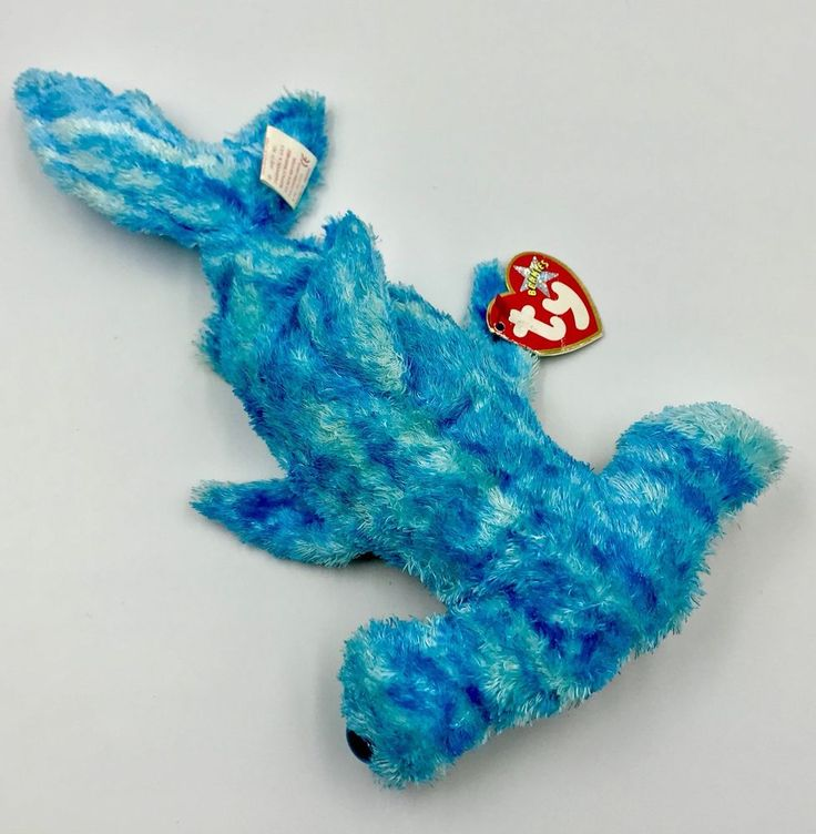Ty beanie babies sledge teddy hammer head shark rainbow glitter body tagged 2002