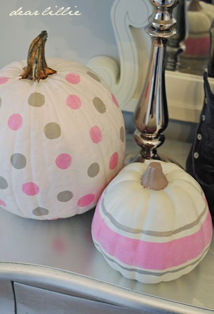 Painted Pumpkins in Lillie's Room by Dear Lillie