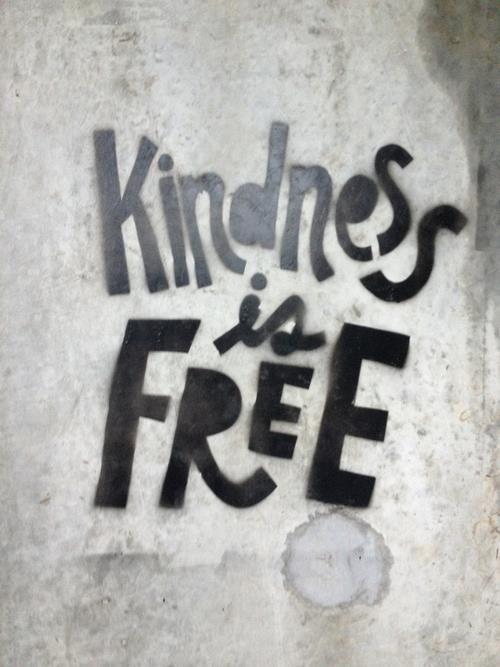 #inspiration #truth #positivity #kindness #goodness #graffiti #typography #quote #stencil #streetart