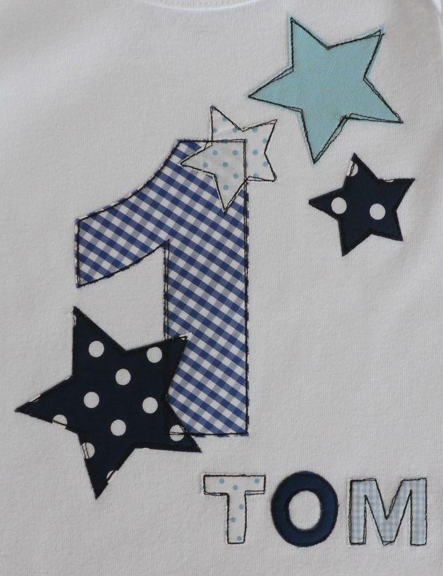 """Langarmshirts - Geburtstagsshirt """"Stern mit Namen"""" - ein Designerstück von tinybutton bei DaWanda"""