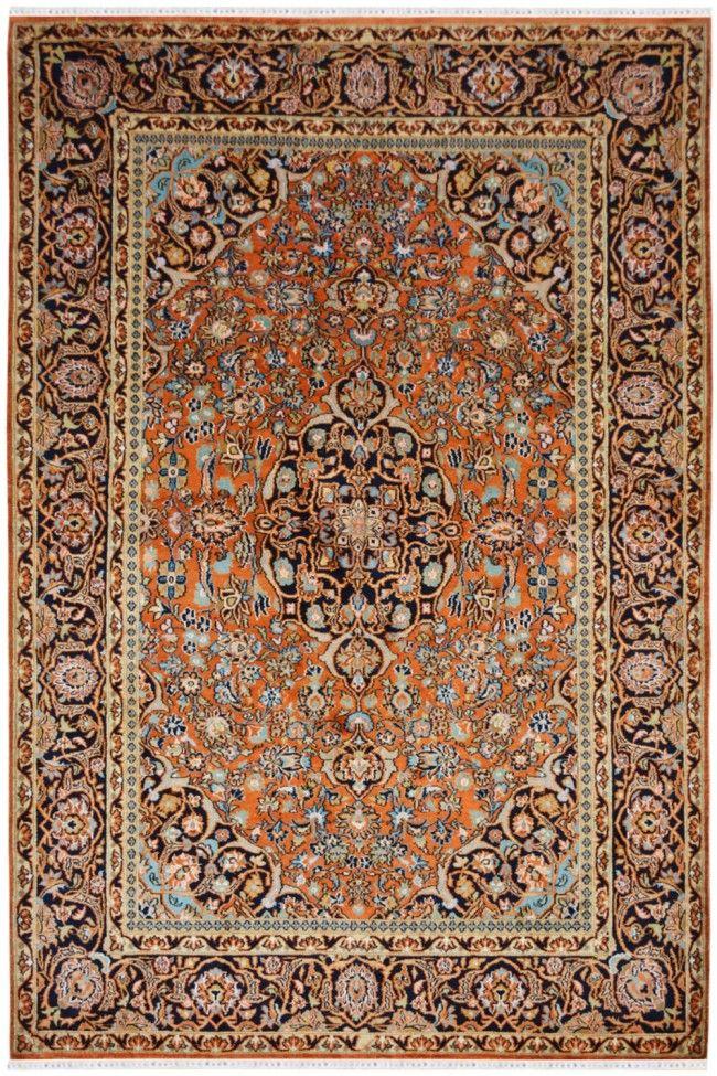 Orange Raani Persian Design Rug