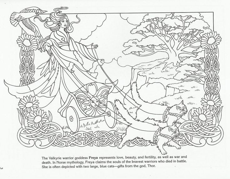 Pin by katherine swagerman on colouring pages pinterest for Norse mythology coloring pages