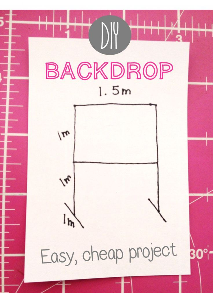 Easy, cheap DIY back drop tutorial with photos. Tested and improved with tips and tricks.