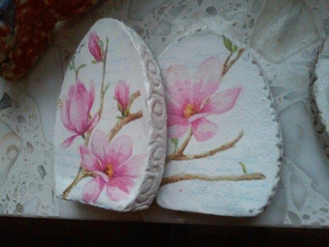 A to polaczenie ceramiki i decoupage.