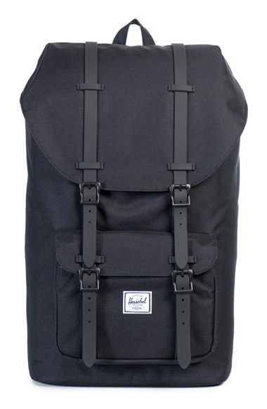 Free shipping and returns on Herschel Supply Co. 'Little America' Backpack at Nordstrom.com. Padded mesh pods pair with cushy, body-contouring adjustable shoulder straps on a roomy backpack built for comfort in a classic mountaineering style. An exterior shaped from synthetic canvas and a triple-lined main compartment add durability and enhanced weather protection, while a small interior media pocket and padded, fleece-lined laptop sleeve keep electronics safe and secure while on the ...