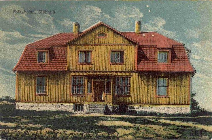SIBBHULT, Folkskolan, obegagnat på Tradera.com - Vykort och bilder från