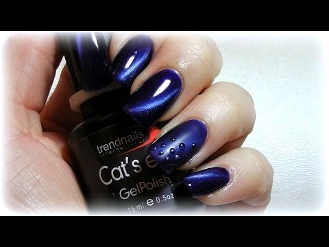 Cat Eye gel polish - YouTube