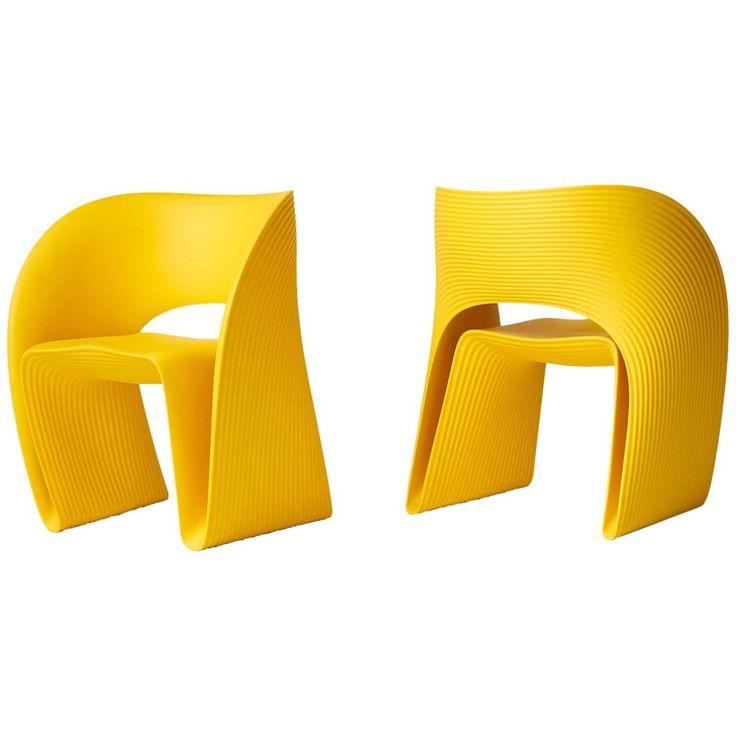 pair of raviolo chairs by ron arad objet design dessine moi et meubles. Black Bedroom Furniture Sets. Home Design Ideas