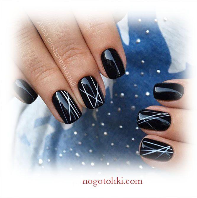 Черные ногти дизайн – сочетание цветов, нюансы - 10 Октября 2016 - Ноготочки (все о ногтях) http://nogotohki.com/news/chernye_nogti_dizajn_sochetanie_cvetov_njuansy/2016-10-10-209?_utl_t=tw дизайн ногтей с черным цветом фото